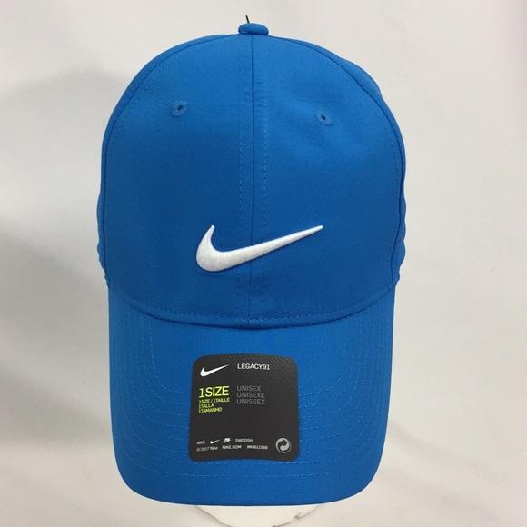 NWT Blue Nike Logo Golf Hat Unisex C6 af3834a0830
